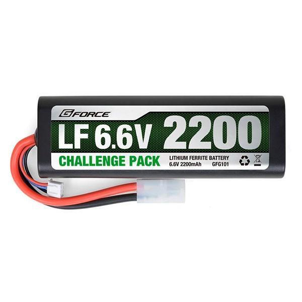 ●(送料無料)(代引不可)G-FORCE ジーフォース LF Challenge Pack LiFe Battery 6.6V 2200mAh GFG101「他の商品と同梱不可/北海道、沖縄、離島別途送料」