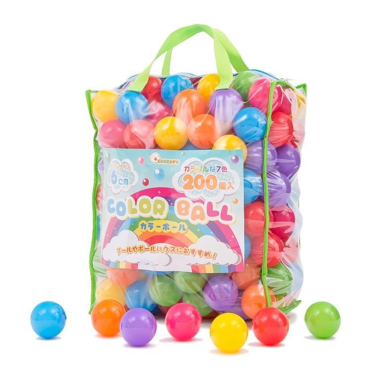 ボールプール用 ボール カラーボール おもちゃ 7色 200個入り 子供 直径6cm coccoro coccoro 02