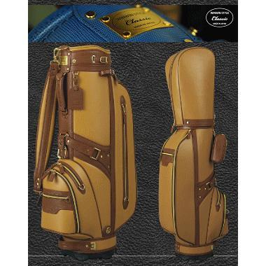 WINWIN STYLE Classic キャディバッグ 総本革 WINWIN SPIRITS BAG ゴールド Version 【受注生産のため納期2〜3か月かかります。】