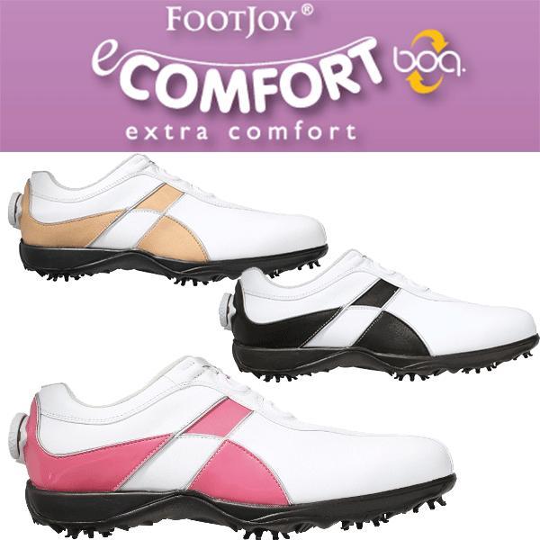 【ただいまポイント5倍!!】 FOOTJOY  -フットジョイ- レディース  e COMFORT Boa -イーコンフォート ボア-  ゴルフシューズ