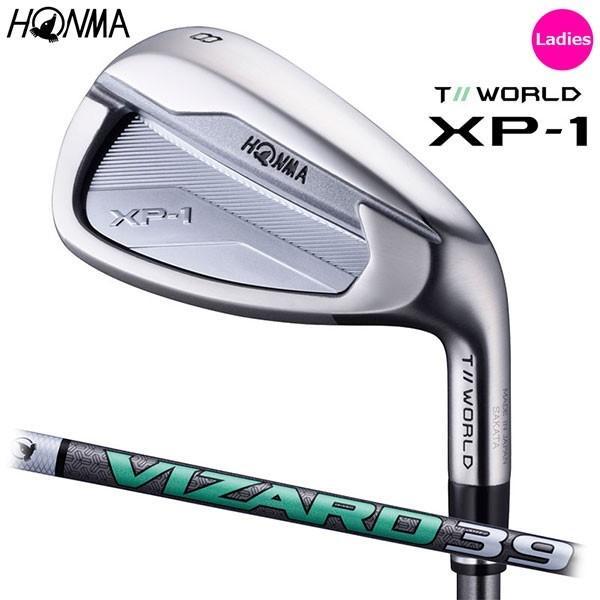 【女性用 レディース】  HONMA -本間ゴルフ- T//WORLD XP-1 Ladies IRON  アイアン5本セット(#7〜10,SW)  VIZARD 39 オリジナルシャフト
