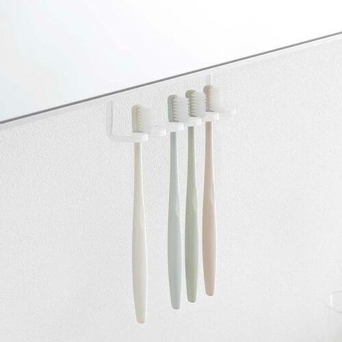 山崎実業 洗面戸棚下歯ブラシホルダー タワー ホワイト 5006|cocoatta|02