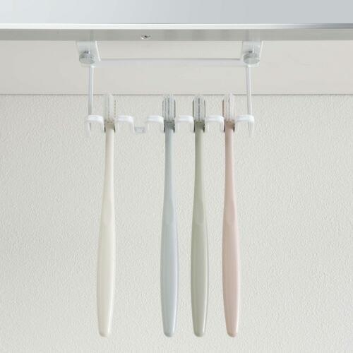 山崎実業 洗面戸棚下歯ブラシホルダー タワー ホワイト 5006|cocoatta|06