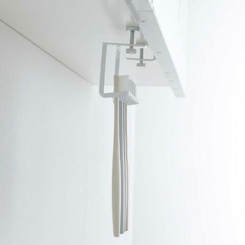 山崎実業 洗面戸棚下歯ブラシホルダー タワー ホワイト 5006|cocoatta|08