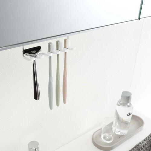 山崎実業 洗面戸棚下歯ブラシホルダー タワー ホワイト 5006|cocoatta|09