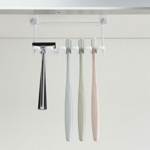 山崎実業 洗面戸棚下歯ブラシホルダー タワー ホワイト 5006|cocoatta|10