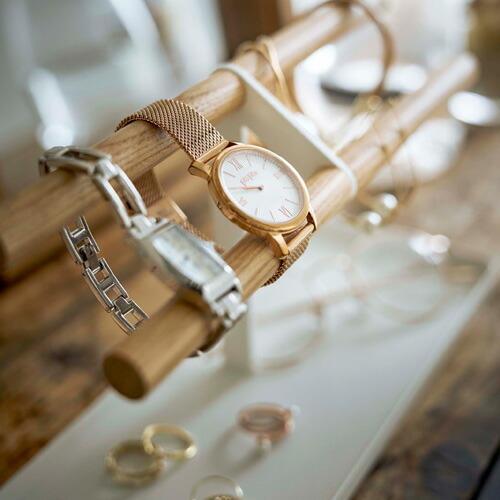 山崎実業 腕時計&アクセサリースタンド トスカ ホワイト 5170 cocoatta 06