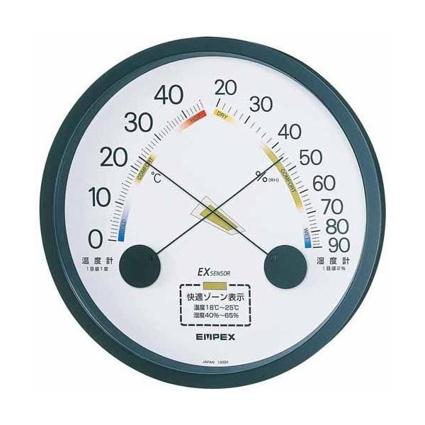 【全商品オープニング価格 特別価格】 TM-2332 温湿度計 EMPEX エンペックス ブラック エスパス-健康管理、計測計