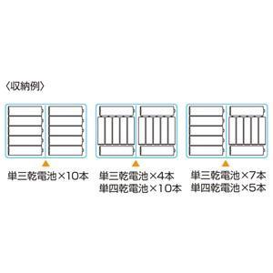 サンワサプライ 電池ケース 単三形、単四形対応 クリア DG-BT5C cocoatta 03