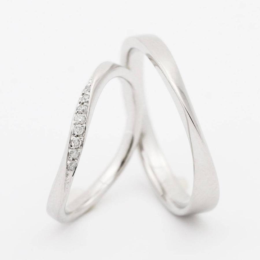ペアリング 安い 2本セット 天然ダイヤ シルバー925 ダイヤモンド 金属アレルギー 日本製 ホワイトデー ギフト プレゼント|cococaru|02