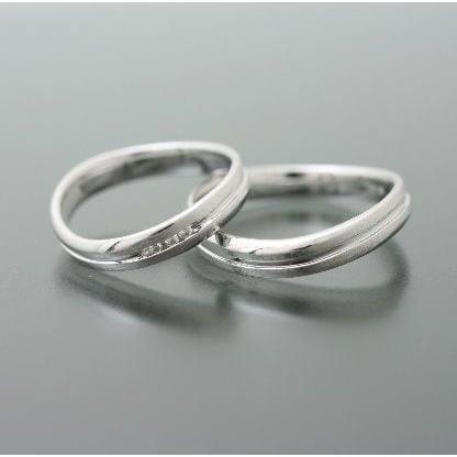正式的 結婚指輪 マリッジリング 安い プラチナ900 天然 ダイヤモンド 2本セット 品質保証書 金属アレルギー 日本製 新生活 ギフト, カスミチョウ f78385de