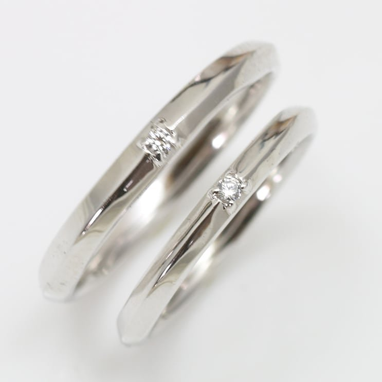 ペアリング 安い 2本セット 天然ダイヤ シルバー925 ダイヤモンド 金属アレルギー 日本製 ホワイトデー ギフト プレゼント|cococaru