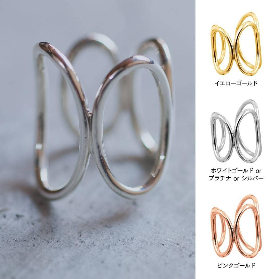 地金 リング フォークリング シルバー925 真鍮 ファッションリング 品質保証書 金属アレルギー 日本製 ホワイトデー ギフト プレゼント|cococaru|06