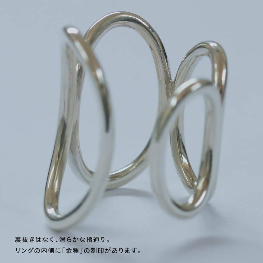 地金 リング フォークリング シルバー925 真鍮 ファッションリング 品質保証書 金属アレルギー 日本製 ホワイトデー ギフト プレゼント|cococaru|09