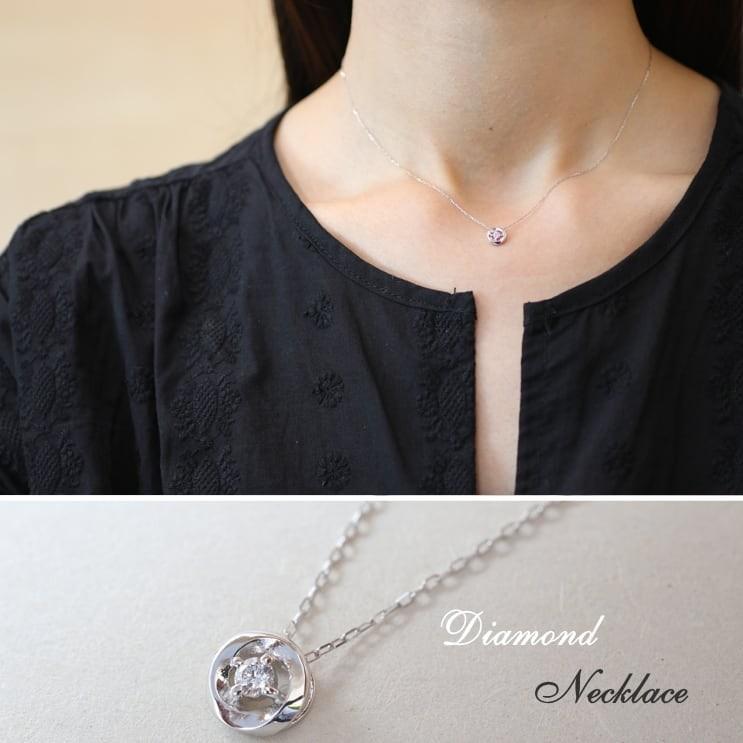 ダイヤモンド ネックレス k18 一粒 イエローゴールド/ホワイトゴールド/ピンクゴールド 品質保証書 天然ダイヤ 日本製 新生活 母の日 ギフト プレゼント cococaru 04