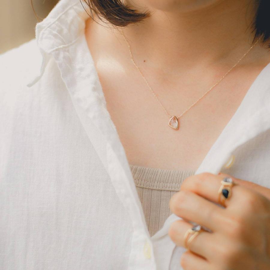 ネックレス k10 一粒 選べるカラーストーン イエローゴールド/ホワイトゴールド/ピンクゴールド 金属アレルギー 日本製 新生活 母の日 ギフト プレゼント|cococaru|05