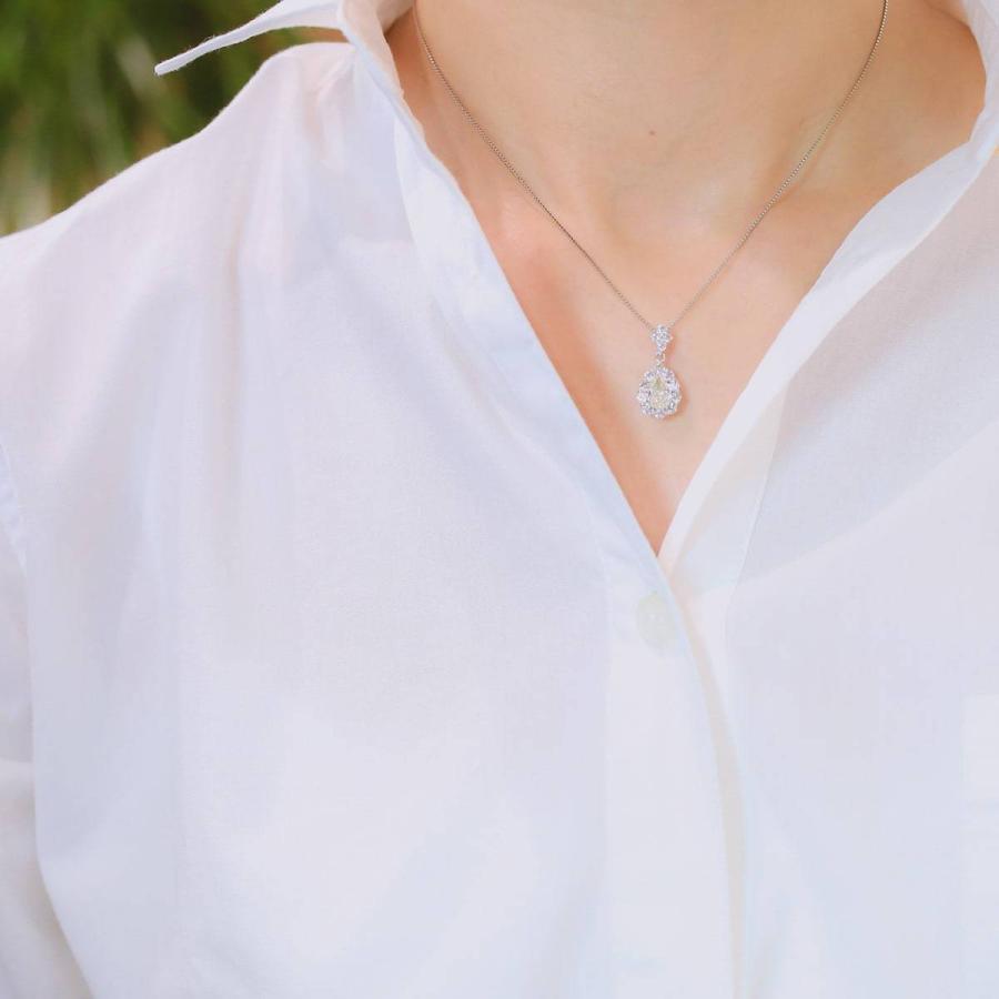 鑑定書付き ダイヤモンド ネックレス プラチナ900 金属アレルギー 天然ダイヤ 日本製 ホワイトデー ギフト プレゼント|cococaru|11