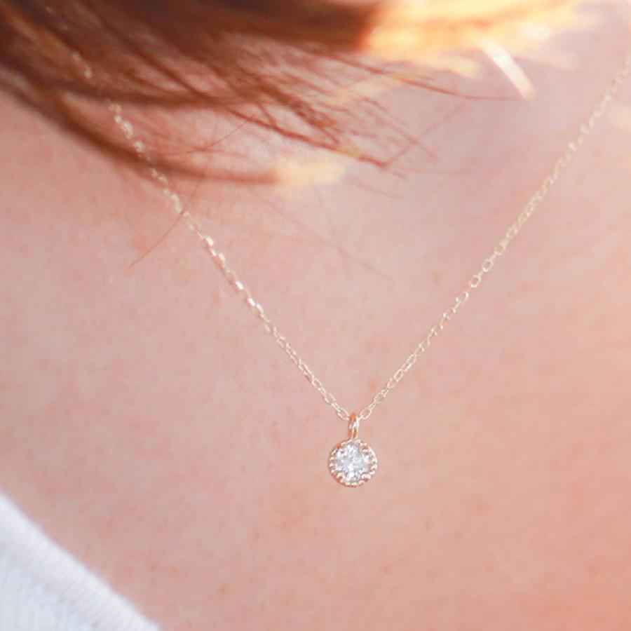 ネックレス ダイヤモンド k10 一粒 イエローゴールド/ホワイトゴールド/ピンクゴールド 品質保証書 天然ダイヤ 日本製 新生活 母の日 ギフト プレゼント cococaru 05