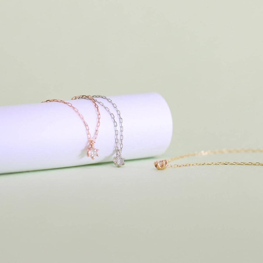 ネックレス ダイヤモンド k10 一粒 イエローゴールド/ホワイトゴールド/ピンクゴールド 品質保証書 天然ダイヤ 日本製 新生活 母の日 ギフト プレゼント|cococaru|04