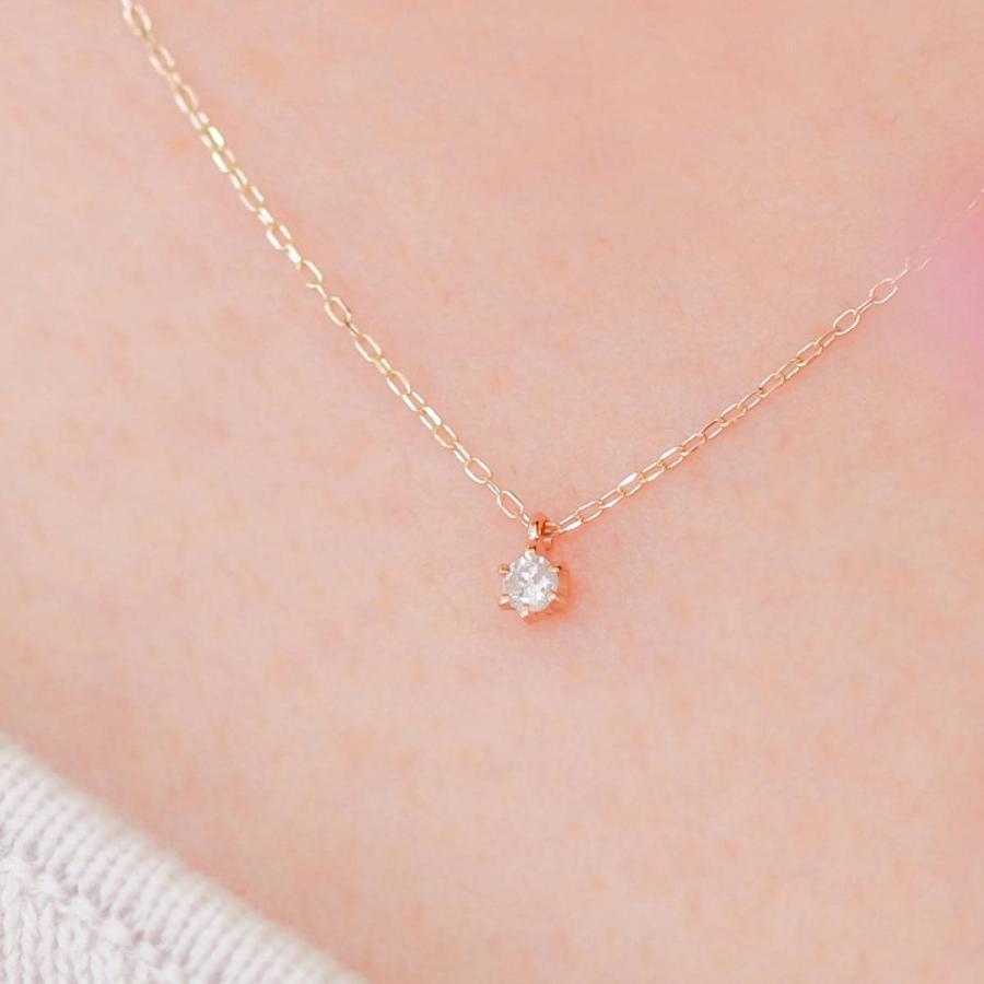 ネックレス ダイヤモンド k10 一粒 イエローゴールド/ホワイトゴールド/ピンクゴールド 品質保証書 天然ダイヤ 日本製 新生活 母の日 ギフト プレゼント|cococaru|05