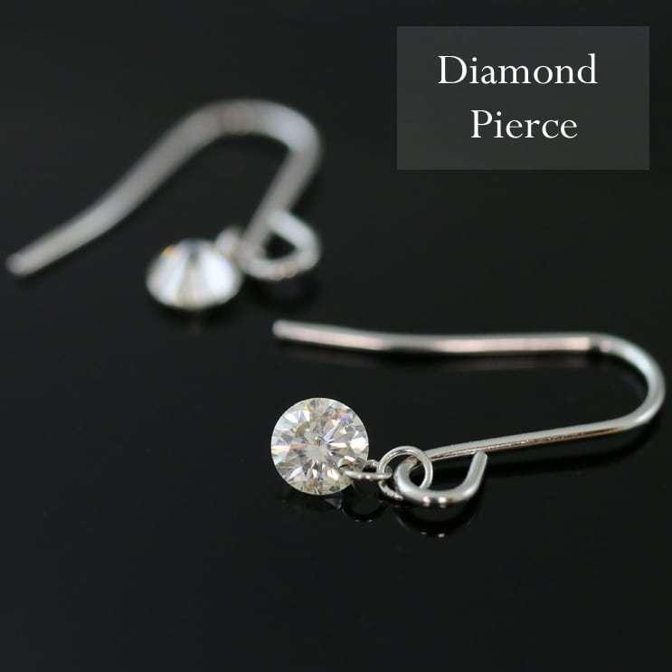 ピアス フックピアス レーザーホール ダイヤモンド 0.16ct プラチナ900 品質保証書 天然ダイヤ 日本製 ホワイトデー ギフト プレゼント|cococaru|03