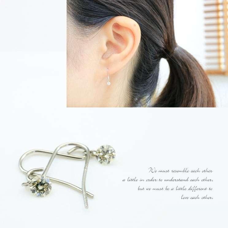 ピアス フックピアス レーザーホール ダイヤモンド 0.16ct プラチナ900 品質保証書 天然ダイヤ 日本製 ホワイトデー ギフト プレゼント|cococaru|06