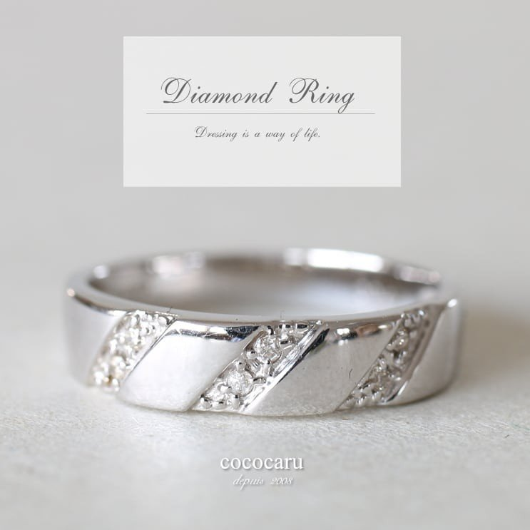 指輪 レディース ダイヤモンド リング プラチナ900 天然ダイヤ ファッションリング 金属アレルギー 日本製 新生活 母の日 ギフト プレゼント|cococaru|02