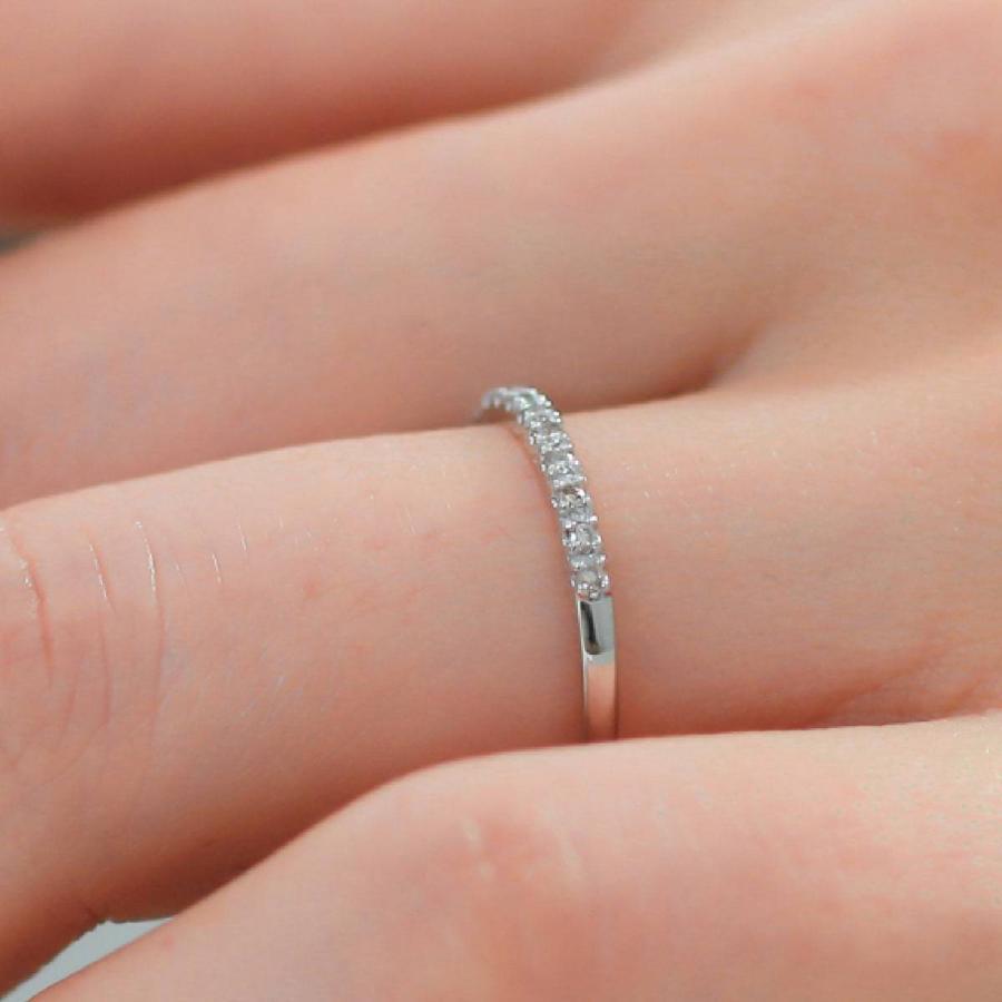 エタニティリング ダイヤモンド プラチナ900 指輪 ブランド 金属アレルギー 天然ダイヤ 日本製 おしゃれ ギフト プレゼント|cococaru|04