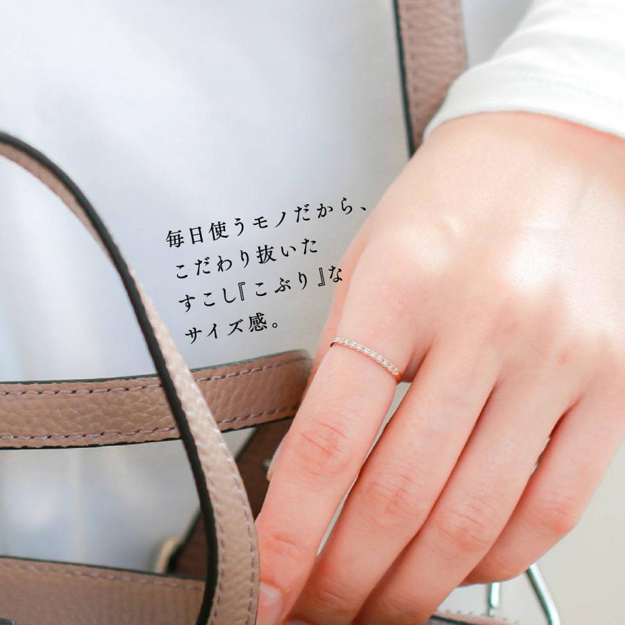 エタニティリング ダイヤモンド プラチナ900 指輪 ブランド 金属アレルギー 天然ダイヤ 日本製 おしゃれ ギフト プレゼント|cococaru|05