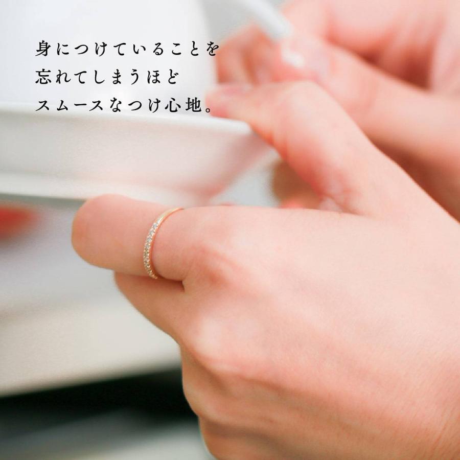 エタニティリング ダイヤモンド プラチナ900 指輪 ブランド 金属アレルギー 天然ダイヤ 日本製 おしゃれ ギフト プレゼント|cococaru|06
