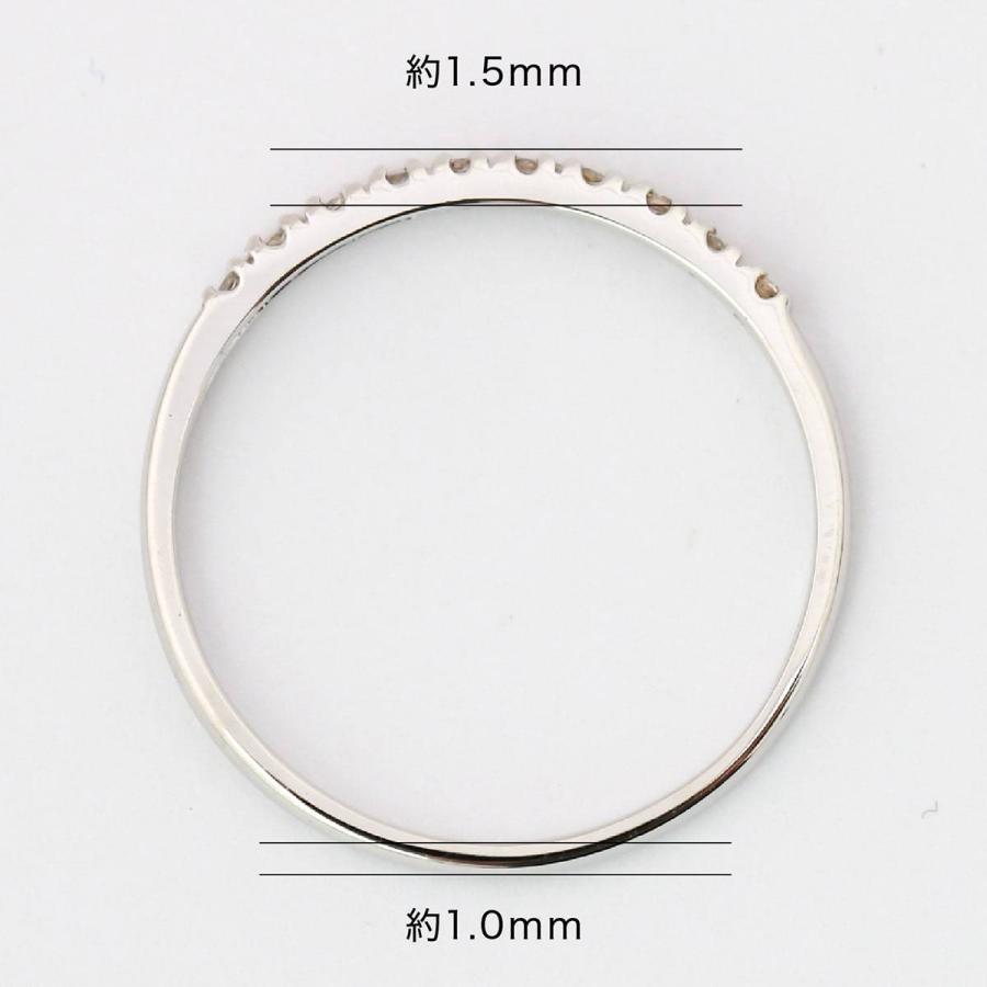 エタニティリング ダイヤモンド プラチナ900 指輪 ブランド 金属アレルギー 天然ダイヤ 日本製 おしゃれ ギフト プレゼント|cococaru|08