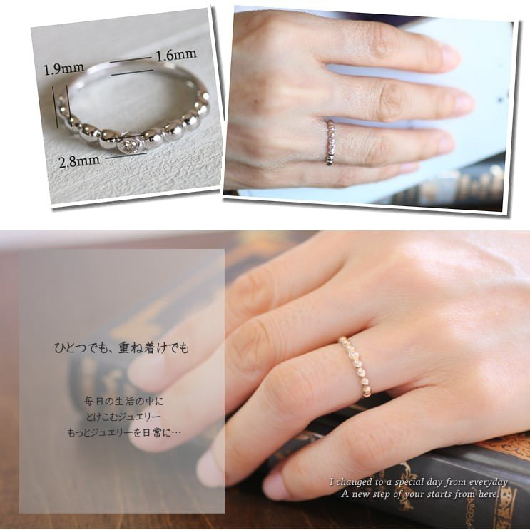 イエローゴールド 一粒 ダイヤモンド リング k10 イエローゴールド/ホワイトゴールド/ピンクゴールド 天然ダイヤ 日本製 新生活 母の日 ギフト プレゼント|cococaru|04