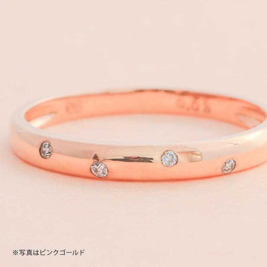 イエローゴールド ダイヤモンド リング k10 イエローゴールド/ホワイトゴールド/ピンクゴールド ファッション 日本製 新生活 母の日 ギフト プレゼント|cococaru|02