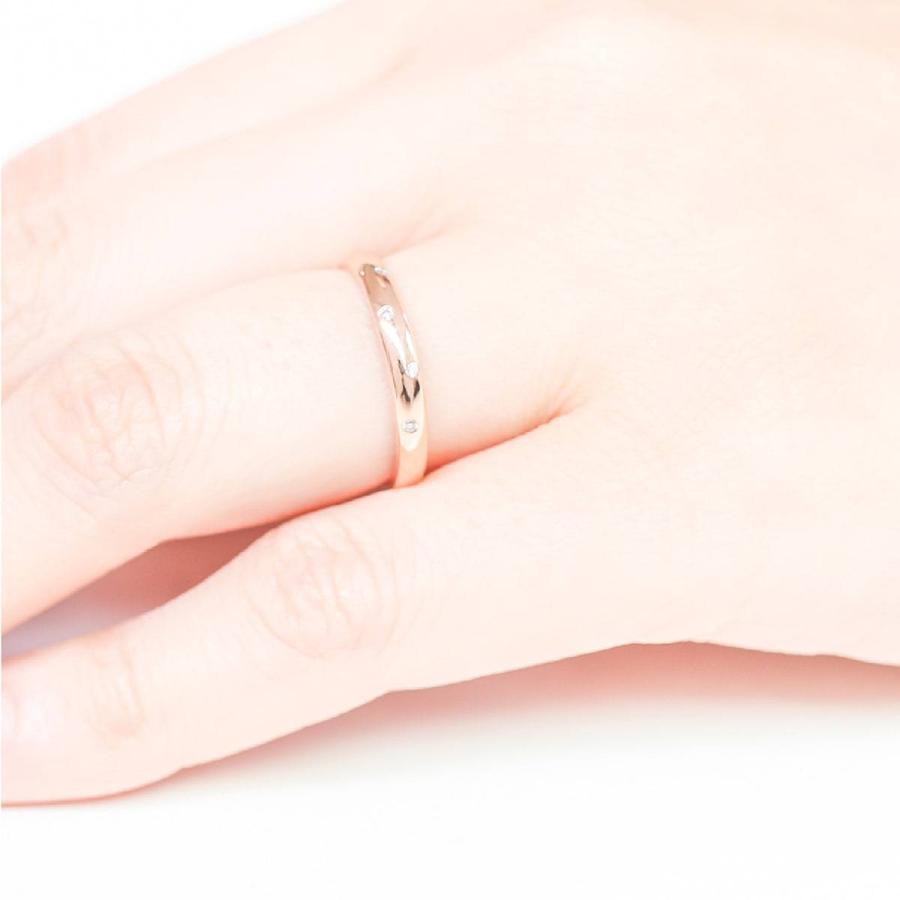 イエローゴールド ダイヤモンド リング k10 イエローゴールド/ホワイトゴールド/ピンクゴールド ファッション 日本製 新生活 母の日 ギフト プレゼント|cococaru|05