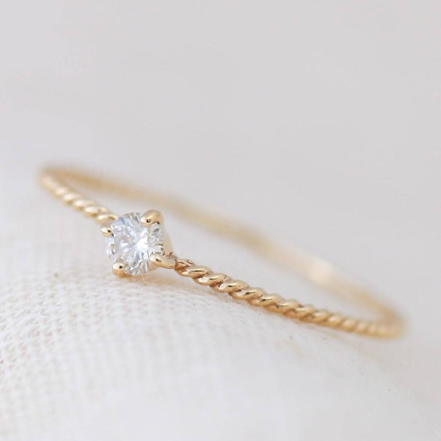 k10 指輪 一粒 ダイヤモンド リング k10 イエローゴールド/ホワイトゴールド/ピンクゴールド ファッションリング 日本製 ホワイトデー ギフト プレゼント|cococaru|03