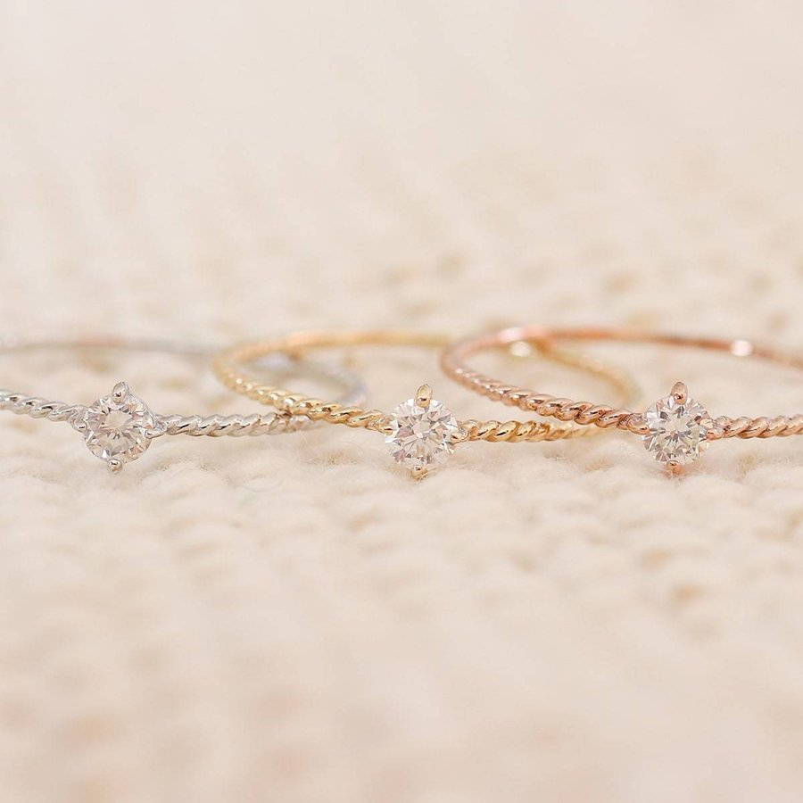 k10 指輪 一粒 ダイヤモンド リング k10 イエローゴールド/ホワイトゴールド/ピンクゴールド ファッションリング 日本製 ホワイトデー ギフト プレゼント|cococaru|04