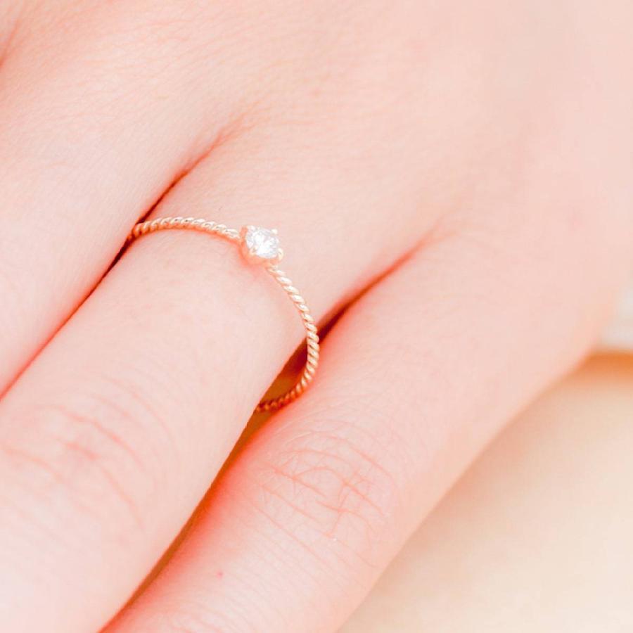 k10 指輪 一粒 ダイヤモンド リング k10 イエローゴールド/ホワイトゴールド/ピンクゴールド ファッションリング 日本製 ホワイトデー ギフト プレゼント|cococaru|05
