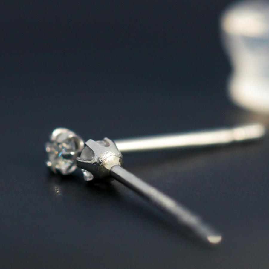 ダイヤモンド ピアス スタッドピアス 安い 小さめ 0.05ct プラチナ900 品質保証書 金属アレルギー 天然ダイヤ 日本製 ホワイトデー ギフト プレゼント cococaru 07