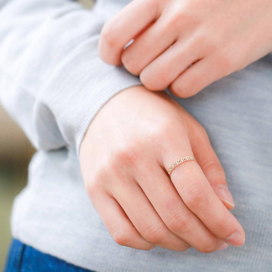 地金 リング k18 イエローゴールド/ホワイトゴールド/ピンクゴールド ファッションリング 金属アレルギー 日本製 新生活 母の日 ギフト プレゼント cococaru 06