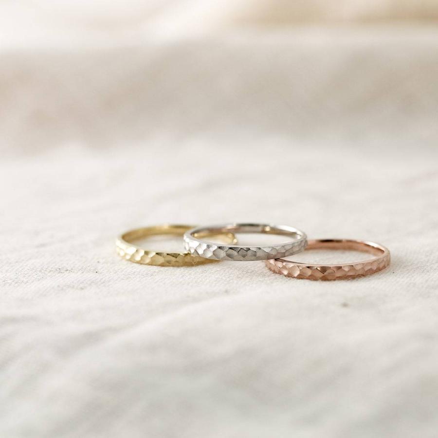 地金 リング k10 イエローゴールド/ホワイトゴールド/ピンクゴールド ファッションリング 金属アレルギー 日本製 ホワイトデー ギフト プレゼント|cococaru|03