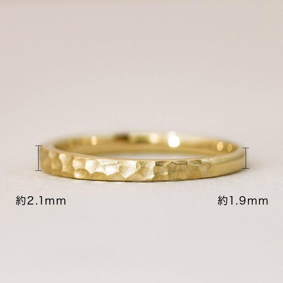 地金 リング k10 イエローゴールド/ホワイトゴールド/ピンクゴールド ファッションリング 金属アレルギー 日本製 ホワイトデー ギフト プレゼント|cococaru|07