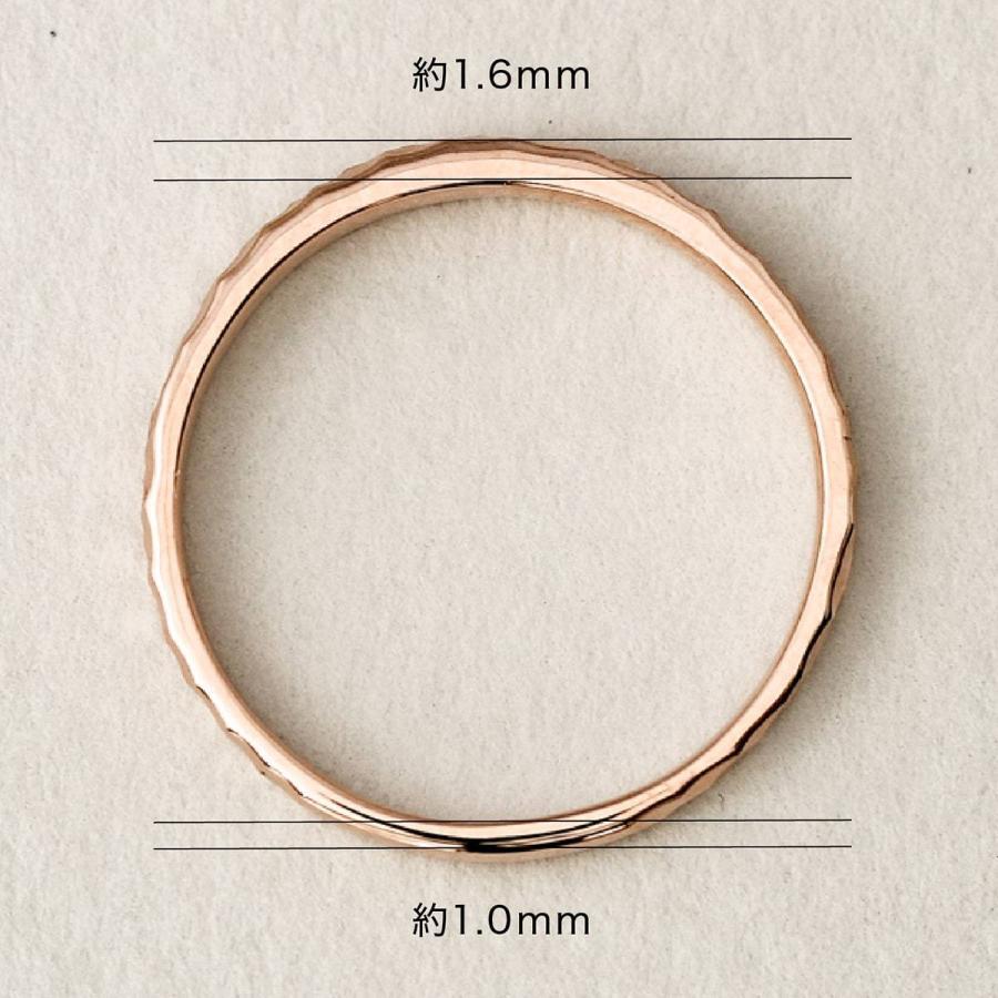 地金 リング k10 イエローゴールド/ホワイトゴールド/ピンクゴールド ファッションリング 金属アレルギー 日本製 ホワイトデー ギフト プレゼント|cococaru|08