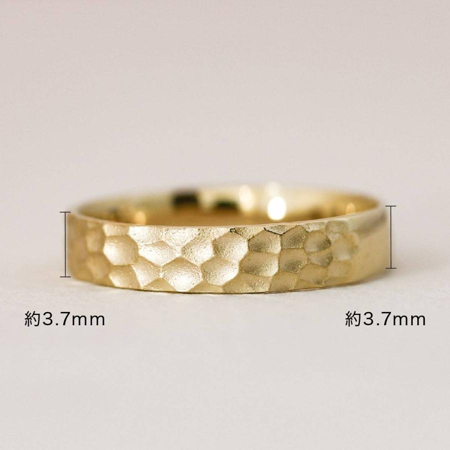 地金 リング k18 イエローゴールド/ホワイトゴールド/ピンクゴールド ファッションリング 金属アレルギー 日本製 ホワイトデー ギフト プレゼント|cococaru|07