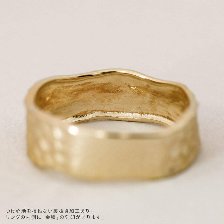 地金 リング k18 イエローゴールド/ホワイトゴールド/ピンクゴールド ファッションリング 金属アレルギー 日本製 ホワイトデー ギフト プレゼント|cococaru|09