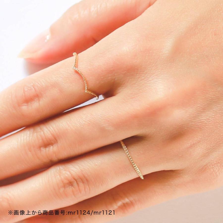 地金 リング k10 イエローゴールド/ホワイトゴールド/ピンクゴールド ファッションリング 品質保証書 金属アレルギー 日本製 ホワイトデー ギフト プレゼント|cococaru|05