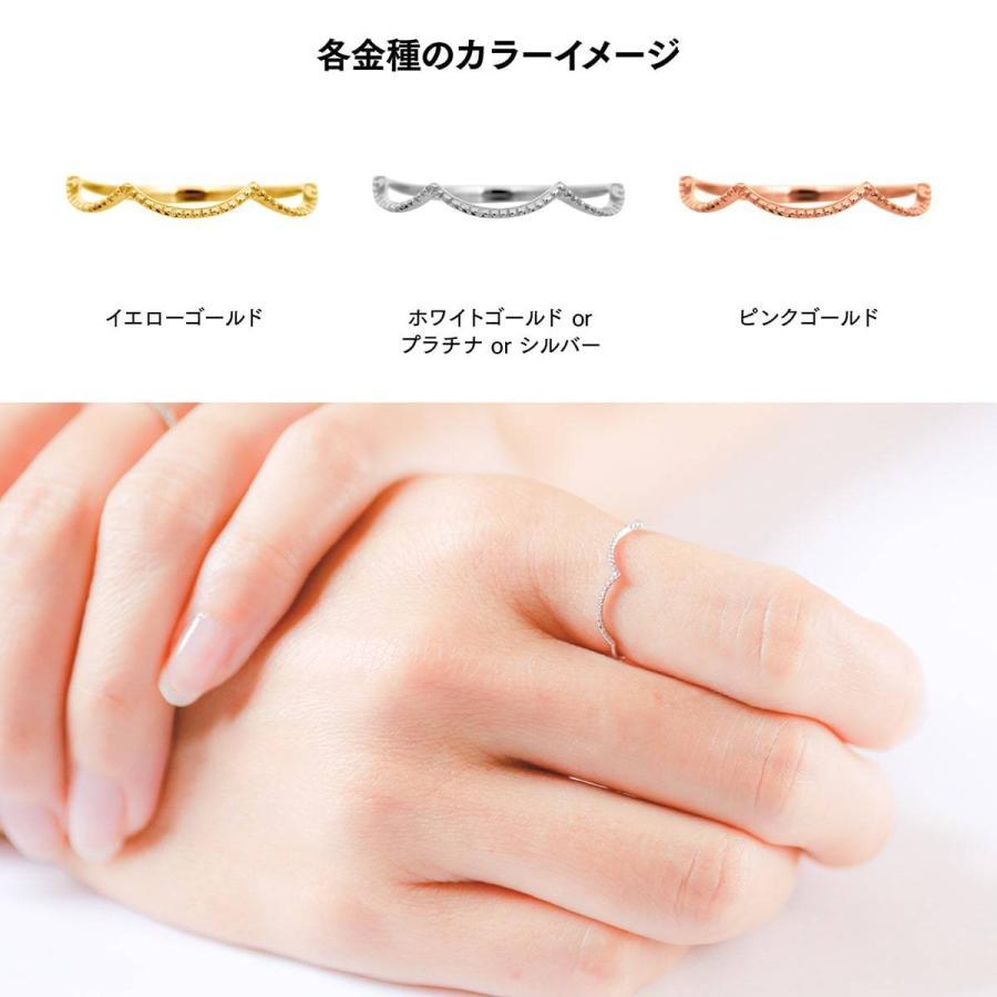 地金 リング k10 イエローゴールド/ホワイトゴールド/ピンクゴールド ファッションリング 品質保証書 金属アレルギー 日本製 ホワイトデー ギフト プレゼント|cococaru|06