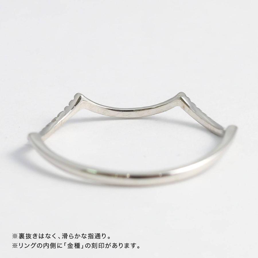 地金 リング k10 イエローゴールド/ホワイトゴールド/ピンクゴールド ファッションリング 品質保証書 金属アレルギー 日本製 ホワイトデー ギフト プレゼント|cococaru|09