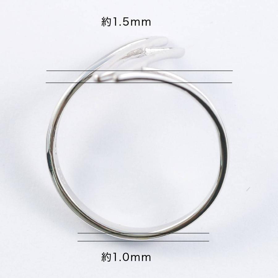 地金 リング シルバー925 シルバーリング ファッションリング 品質保証書 金属アレルギー 日本製 ホワイトデー ギフト プレゼント|cococaru|08