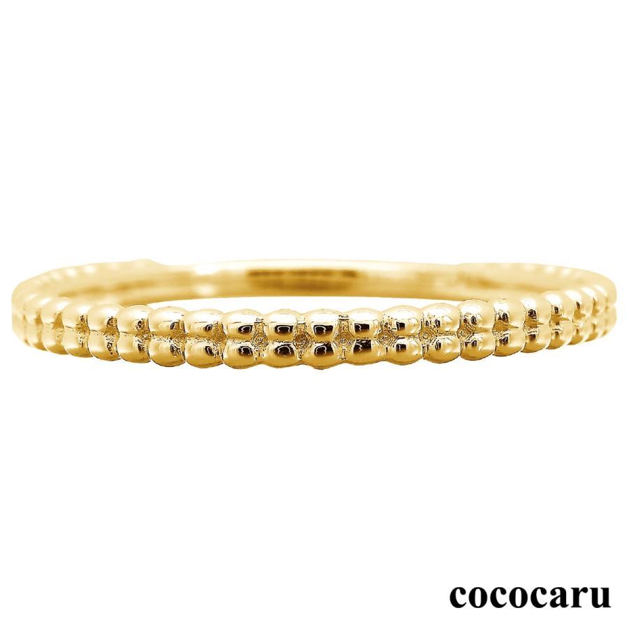 地金 リング k10 イエローゴールド/ホワイトゴールド/ピンクゴールド ファッションリング 金属アレルギー 日本製 新生活 母の日 ギフト プレゼント|cococaru