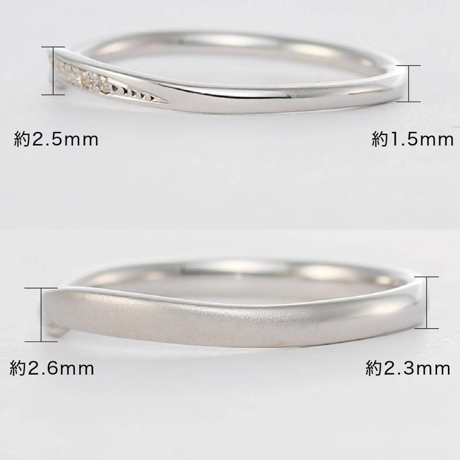 ペアリング 2本セット 天然ダイヤ 安い k10 イエローゴールド/ホワイトゴールド/ピンクゴールド ダイヤモンド 日本製 ホワイトデー ギフト プレゼント|cococaru|08